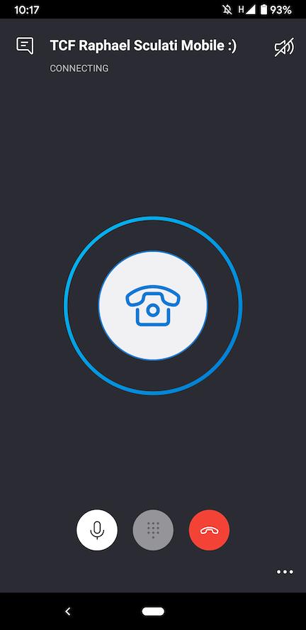 Ecran numéro skype télétravail