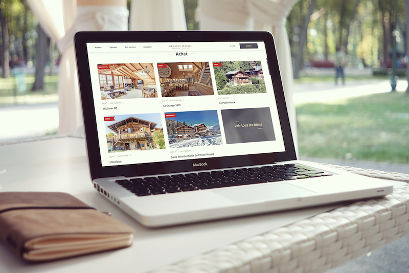 Online real-estate catalogue for Gérance-Service (CH)